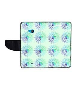 KolorEdge Printed Flip Cover For Microsoft Lumia 540 Multicolor -(50KeMLogo12248Lumia540)