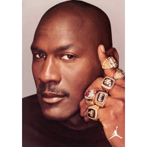Amazon.com : Air Michael Jordan NBA Chicago Bulls 6 Championship Rings