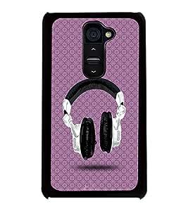 Printvisa 2D Printed Music Designer back case cover for LG G2 - D4488