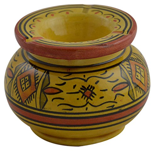 Ceramic Ashtrays Moroccan Hand Made Smokeless Medium