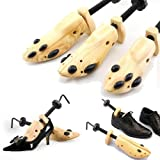 Shoe Stretcher Pair, Women, Size 5-10, 2-Way, Length & Width, Wood, Shoe Stretch