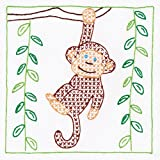 "Stamped White Quilt Blocks 9""X9"" 12/Pkg-Monkey"