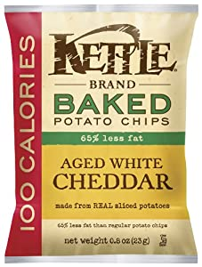 Kettle Bakes 100 calorie Aged White Cheddar, 0.8-Ounce (Pack of 72) from Kettle