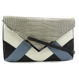 Nine West Collection Clutchescressida Clutch, Cobblestone/Snow Petal/Black/Blue Sky, One Size