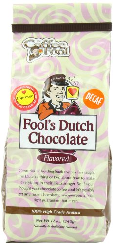 The Coffee Fool Espresso, Fool'S Decaf Dutch Chocolate, 12 Ounce