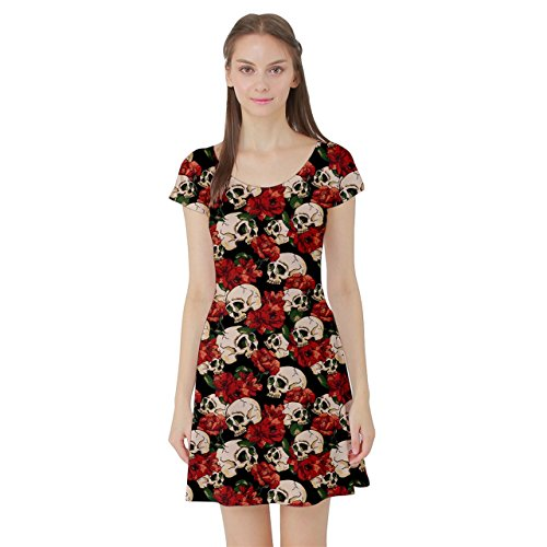 Skull & Flowers Day of the Dead Skater Dress