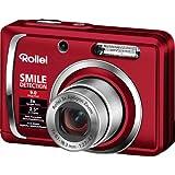 "Rollei Compactline 90 Digitalkamera (9 Megapixel, 3-fach opt. Zoom, 6,4 cm (2,5 Zoll) Display) rot inkl. Taschevon ""Rollei"""