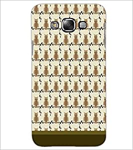 PrintDhaba Owl Pattern D-1649 Back Case Cover for SAMSUNG GALAXY E7 (Multi-Coloured)