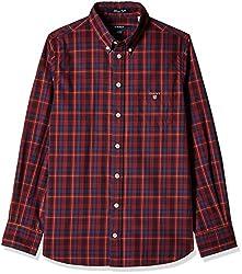 Gant Boys' Shirt (GBSEF0008_Mahogny Red_M)