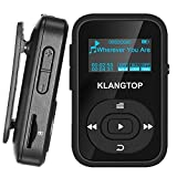 MP3 Player 8GB Bluetooth KLANTOP Digital Clip Music Player with FM Radio Voice Record Function Special Design for Sport and Music Lovers (Color: Black)