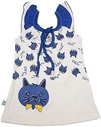 Absorba Baby Girls' Dress ( Royal_12-18 Months ,60007)