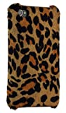 51zpY3RQ1hL. SL160  Apple iPhone 4 Handmade Pony Hair Leather Snap On Case, Leopard Print Brown/Tan