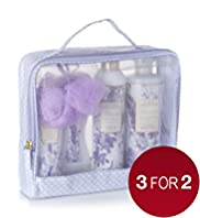 Floral Collection Lavender Toiletry Bag