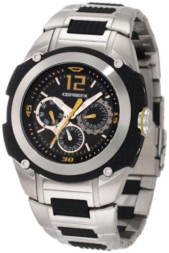 CEPHEUS CP801-121B - Reloj de caballero de cuarzo, correa de acero inoxidable color plata