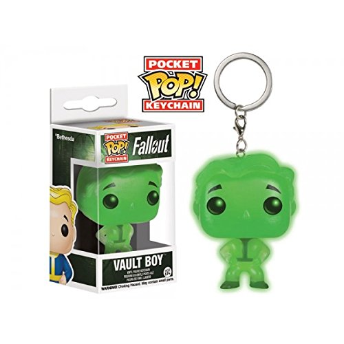 Funko - Porte Clé Fallout - Vault Boy Glow In The Dark Exclu Pocket Pop 4cm - 0849803094317