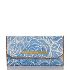 Soft Checkbook Wallet<br>Lyon Blue