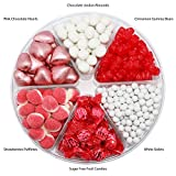 FirstChoiceCandy White & Red Candy 6 Section Gift Tray