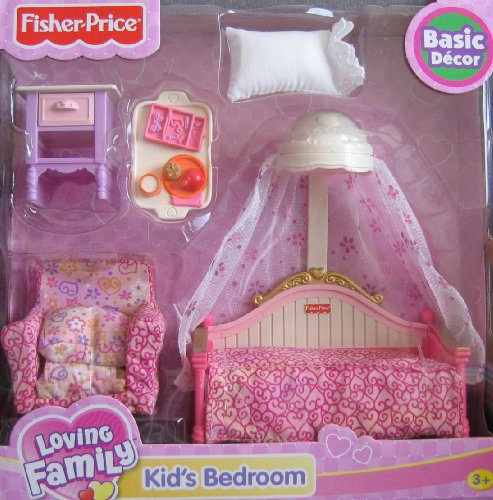 Buy Low Price Fisher Price Loving Family Kid's Bedroom Basic Decor Playset – For Dollhouse (2008) Figure (B002MBAPJ6)