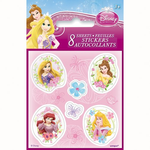 Disney Princess Sticker Sheets, 8ct - 1