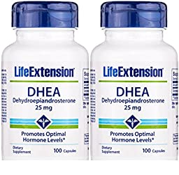 Life Extension DHEA, 25 Mg, 100 capsulesx 2