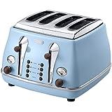 Delonghi Vintage Icona CTOV4003.AZ Anita 4 Slice Toaster - Azure Blue