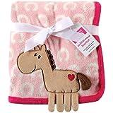 Hudson Baby Coral Fleece 3D Animal Blanket, Pink (Discontinued by Manufacturer)
