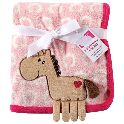 Hudson Baby Coral Fleece 3D Animal Blanket, Pink