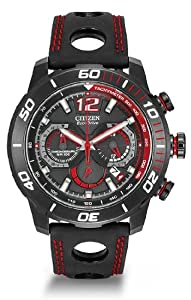 Citizen Watch Primo Stingray Men's Quartz Watch with Black Dial Analogue Display and Black Leather Strap CA4085-08E