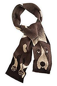 Green 3 Apparel Basset Hound Made in USA Scarf (Brown)