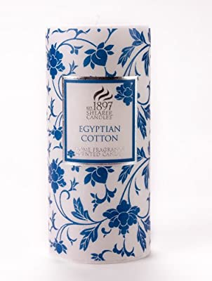 Shearer Candles Scented Pillar Candle - Egyptian Cotton 15cm 6 from Shearer Candles
