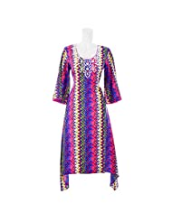 Aruna Singh Digital Printed Bright Colours Long Cotton Kurta A-Line For Women
