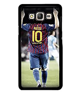Printvisa Footballer In Action Back Case Cover for Samsung Galaxy On7::Samsung Galaxy On7 G600FY