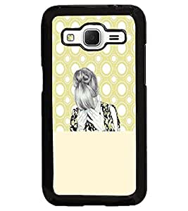 PrintDhaba Tensed Girl D-5894 Back Case Cover for SAMSUNG GALAXY CORE PRIME (Multi-Coloured)
