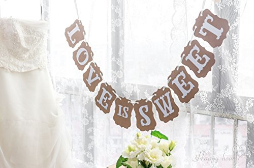 Ottiman LOVE IS SWEET Classical Vintage Wedding Decoration Bunting Banner