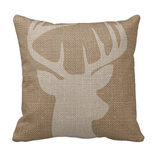 decors-square-decorative-throw-pillow-case-cushion-cover-rustic-deer-buck-burlap-throw-pillows-18-x-