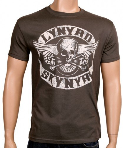 Coole-Fun-T-Shirts - T-Shirt Lynyrd Skynyrd Biker Mc - Neu, T-shirt, grigio(grau), L