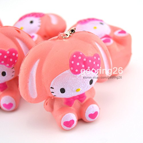 [7cm Pink Kawaii Bow Soft Squishy Charm Bread Phone Straps Toy Girl Dolls] (Puck To The Face Costume)