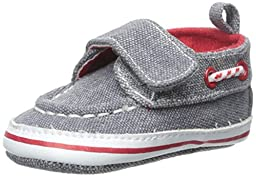 ABG Baby Distressed Boat Shoe (Infant), Grey, 3-6 Months M US Infant