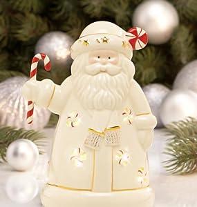 Lenox Seasons Sparkle Santa Lighted Figurine