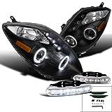 Black Toyota Yaris Halo Projector Headlights+Led Drl Fog Bumper Lamps