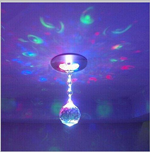 Rextin 3W Rgb Led Spot Down Light Chandelier Bedroom Ceiling Fixture Crystal Pendant