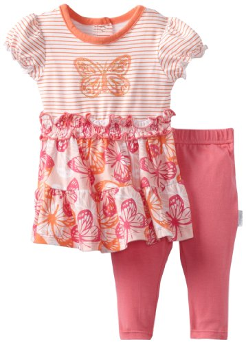 Vitamins Baby-Girls Newborn Butterfly Dress Set, Pink, 3 Months