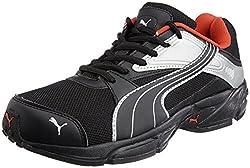 Puma Mens Volt. II Ind. Black and High Risk Red Mesh Running Shoes - 7 UK/India (40.5 EU)