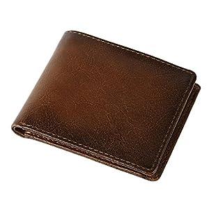 (ラファエロ) Raffaello 一流の革職人が作る 希少なヴィンテージ製法で革染め上げた 二つ折り財布 カーフレザー 革財布 本革 メンズ財布 牛革 メンズ二つ折り財布
