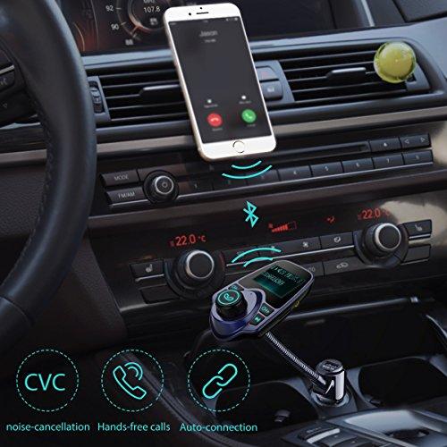 Transmisor-FM-de-VicTsing-para-Vehculo-Adaptdor-de-Radio-de-144-pulgadas-Carcador-de-Coche-de-USB