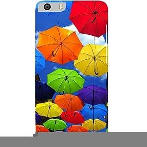 Casotec Colorful Umbrellas Design Hard Back Case Cover for Micromax Canvas Knight 2 E471