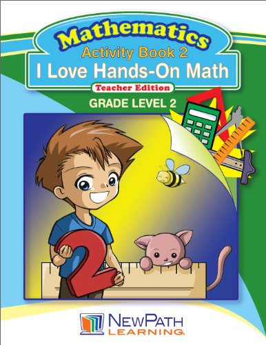 NewPath Learning I Love Hands-On Math Reproducible Workbook, Grade 2