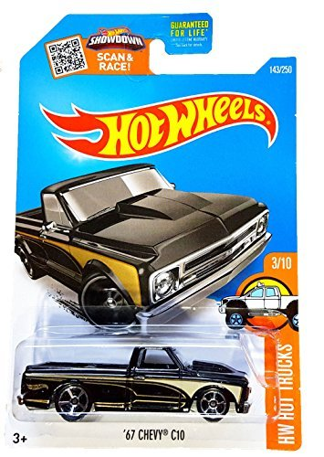 Hot Wheels, 2016 HW Hot Trucks, '67 Chevy C10 [Black] Die-Cast Vehicle #143/250