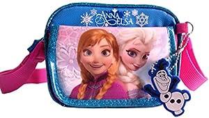 Disney Frozen Princess Elsa & Anna (#338) Mini Square Cross Body Bag with Front, Shoulder Bag for kids