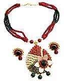 Shreyadzines multicolor pachi pendent set for women